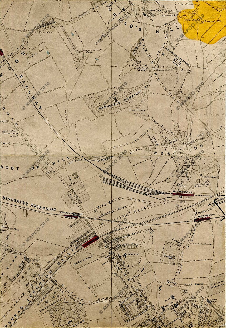 Stanford's Library Map Of London And Its Suburbs 1878, With